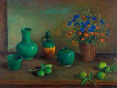 Chinese pots with lemons Margaret Olley, 1982 Australian Painting, Australian Artists, Beautiful Drawings, Beautiful Paintings, Visual And Performing Arts, Fruit Painting, National Art, Hyperrealism, Artist Art