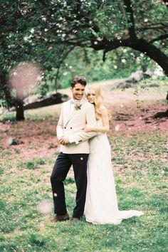 stylish bride and groom, gorgeous photo