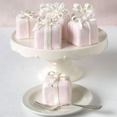 Pink Present Cheesecakes
