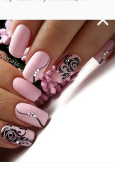 The best 12 nail designs for Women's Day 2019 Amazing Nail Art Tutorial C – Nails Models Fancy Nails, Pink Nails, Cute Nails, Pretty Nails, Elegant Nails, Stylish Nails, Hair And Nails, My Nails, Best Nail Art Designs