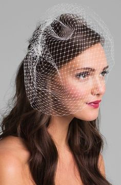 Nina French Net Birdcage Veil available at #Nordstrom , with perfect capacity to add my own embellishments