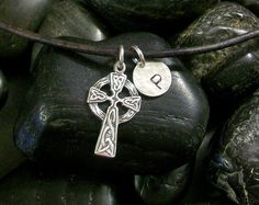 Hey, I found this really awesome Etsy listing at https://www.etsy.com/ca/listing/225609895/celtic-cross-necklace-for-first