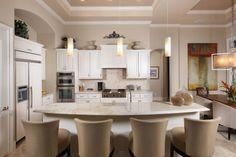 Gourmet open kitchen with granite.