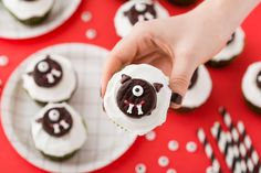 How to Make These Insanely Cute Cyclops Cupcakes for Halloween via Brit + Co.