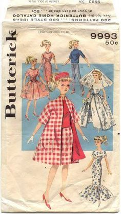 My Mom made clothes for my Barbie, probably from this pattern.