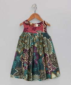 Take a look at this Green Leaf Dress - Toddler & Girls by Yo Baby on #zulily today!