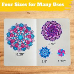 Coloring Mandala Stickers (24 Sheets)