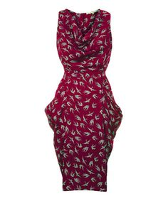 Take a look at this Uttam: Swallow Print Dress | Burgundy  by Uttam Boutique on #zulily today!