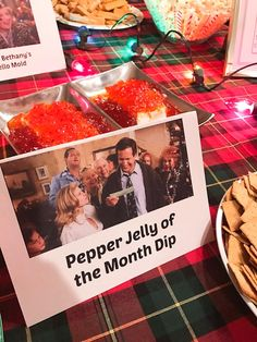 How to host a National Lampoon's Christmas Vacation movie viewing party, complete with a Christmas Vacation themed menu and decorations! Read below on how to host your own Christmas Vacation movie par Tacky Christmas Party, Christmas Movie Night, Blue Christmas Decor, Lampoon's Christmas Vacation, Christmas Party Decorations, Christmas Holidays, Christmas Vacation Costumes, Holiday Party Themes, Christmas Houses