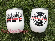Firefighter/Firefighter Wife Wine Tumbler