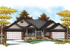 Ranch House Plan with 2515 Square Feet and 4 Bedrooms from Dream Home Source | House Plan Code DHSW52278