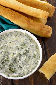 Easy Homemade Spinach Dip - This creamy homemade spinach dip is perfect for any party or get together. It's easy and comes together in a snap!