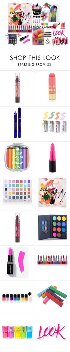 """""""Crayon Makeup"""" by trickpink ❤ liked on Polyvore featuring beauty, Burt's Bees, L.A. Girl, By Terry, MAC Cosmetics, Shany, Marc Jacobs, Clinique, Givenchy and claire's"""