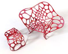 Outdoor furniture pieces called Batoidea by Peter Donders.