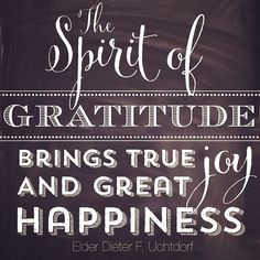 The Spirit of Gratitude brings true joy and great happiness. #gratitude