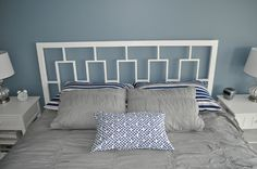 Remodelaholic » Blog Archive West Elm's Window Headboard Knock Off Tutorial » Remodelaholic. I wish I had some woodworking tools.... this would be PERFECT for my under the window bed :)