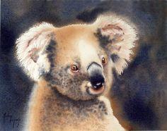Martine Vanparijs   WATERCOLOR Watercolor Animals, Watercolor Paintings, Watercolor Projects, Australian Animals, Watercolours, Wild Animals, Portraits, Bear, Artists