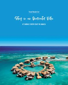Travel Bucket List: Stay in an Over-the-Water Villa at Sandals South Coast in Jamaica! Montego Bay, Sandals South Coast, Water Villa, Travel Logo, Travel Scrapbook, White Sand Beach, Wanderlust Travel, Italy Travel, Travel Photos