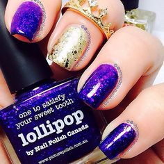 """""""I don't know about you but this Stunning New @picturepolish Collab shade has me feeling all Royal it's called Lollipop and was created in…"""""""
