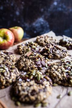Harvest Oatmeal Chocolate Chunk Cookies with Salted Toasted Pepitas.
