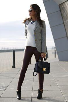 Look informal y elegante.