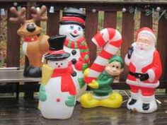 various american and canadian blow molds - Blow Mold Christmas Decorations Outdoor