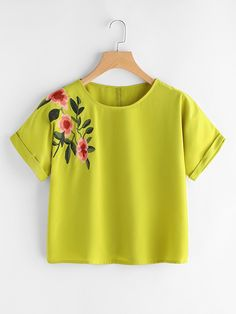 Size Available: S,M,L,XL Type: Tunic Fabric: Fabric has no stretch Season: Summer Pattern Type: Embroidered Sleeve Length: Short Sleeve Color: Yellow Material: 100% Polyester Style: Casual, Cute Collar: Round Neck Bust(Cm): S:108cm, M:112cm, L:116cm, XL:120cm Length(Cm): S:52cm, M:54cm, L:56cm, XL:58cm Sleeve Length(Cm): S:30cm, M:31.2cm, L:32.4cm, XL:33.6cm