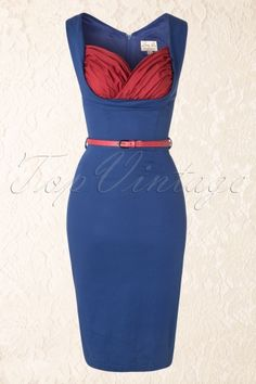 Lindy Bop 100 30 15064 Pencil Blue Party Dress 20150121 0004W