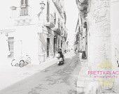 Instant Download, Italy, Italy Photography, Italy Decor, Puglia, Vespa, Black and White, Woman, Print, Home Decor, Photograph, Fine Art