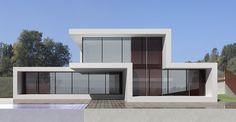 Ideas de #Balcon, Exterior, Piscina, estilo #Moderno color  #Marron,  #Marron,  #Blanco,  #Gris, diseñado por 08023 - Arquitectura   Diseño   Ideas  #CajonDeIdeas