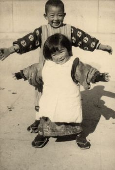 Kansuke as child, 1919. 大正時代の子供たち