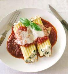 Manicotti Florentine Pasta  Recipes #pasta #recipes