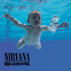 Nevermind by Nirvana - Grunge existed before this album. Grunge existed before Nirvana, too.but it became wildly commercially successful thanks to this album, Nirvana, and producer Butch Vig. Iconic Album Covers, Greatest Album Covers, Classic Album Covers, Cool Album Covers, Music Covers, Rock And Roll, Pop Rock, Smells Like Teen Spirit, Lp Cover