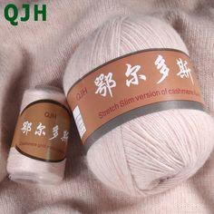 Trouver plus Fil Informations sur (300 g/lot) 6 + 6 Cachemire Laine Laine Pour Tricoter À La Main Fil Erdos Machine À Tricoter En Cachemire À Tricoter Tissage fil Livraison Aiguilles, de haute qualité cashmere cloak, wool sweatshirt Chine Fournisseurs, pas cher wool sheet de CN-QJH Store sur Aliexpress.com Hand Knitting Yarn, Crochet Yarn, Cheap Yarn, Wool Shop, Cashmere Yarn, Cool Things To Buy, Stuff To Buy, Wool Yarn, Crochet Projects
