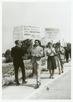 A gay rights picket line at the Pentagon in the summer of 1965. These people put their lives on the line. In 65' being gay was a mental disease and an aberration. These were gutsy and brave trail blazers.
