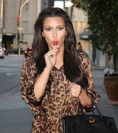 Kim Kardashian Sexy Lolly Pop Candids at Nail Salon in Beverly Hills