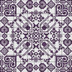Cross Stitch Borders, Cross Stitch Patterns, Blackwork, Fair Isle Chart, Persian Pattern, Monochrom, Red Pattern, Decor Crafts, Craft Decorations