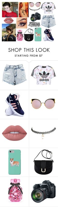 """""""If you don't imagine, nothing ever happens at all.- John Green"""" by jblover-1fan on Polyvore featuring Boohoo, adidas Originals, adidas, Fendi, Lime Crime, Wet Seal, Corgi, A.P.C., Victoria's Secret and Eos"""