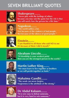 Seven brilliant quotes!