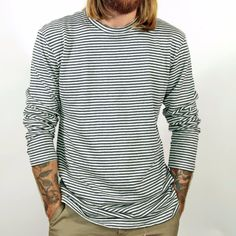 Men's Yarn Dyed Long Sleeve Hemp Tee | Jungmaven Hemp clothing