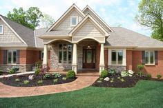 Exterior Columns Craftsman Style Home With Front Porch
