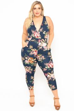 6c89052a98a2a Plus Size Rosewood Cross Front Jumpsuit - Black in 2019