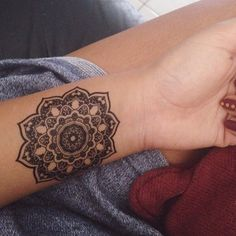 "Tattoos on Instagram: ""Mandala wrist tattoo.  Follow my 2nd account: @inkspiringtattoos @inkspiringtattoos!"""