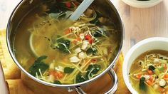 There is nothing more comforting then our classic Chicken Noodle Soup. Best of all its ready in just 30 minutes! Healthy Summer Recipes, Healthy Crockpot Recipes, Lunch Recipes, Soup Recipes, Healthy Dinners, Chicken Egg Noodle Soup, Chicken Eggs, Smoked Salmon Chowder, Soup And Salad
