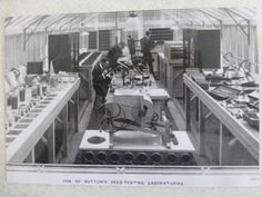 """Photo of """"One of Sutton's Seed Testing Laboratories"""" 1950s?"""