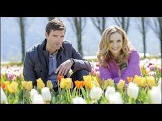"""Check out photos from the Hallmark Channel original movie """"Tulips in Spring,"""" starring Fiona Gubelmann and Lucas Bryant. New Comedy Movies, Romance Movies, Drama Movies, New Movies, Family Christmas Movies, Family Movies, Hallmark Movies 2017, Lucas Bryant, Spring Movie"""