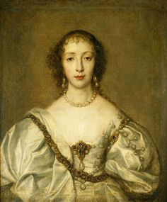 """Henrietta Maria, Queen of England"" by Anthony van Dyck, 1638, the Royal Collection"