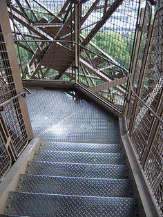 La Tour Eiffel Stairs- high and steep enough to give you the heebe jeebies. The stairs provide you with spectacular views of Paris though. Tour Eiffel, Paris Eiffel Tower, Oh The Places You'll Go, Places To Travel, Places Ive Been, Paris Travel, France Travel, Paris Tour, Belle France
