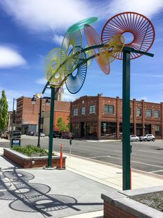 Wheels - Susan Zoccola - West End Plaza Gateway Sculptures. New West, West End, Bike Path, Monthly Themes, Global Art, Public Art, Installation Art, Paths, Design Art