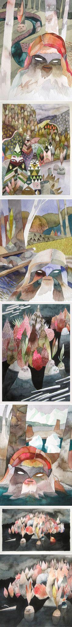 watercolors by meghan hildebrand <3